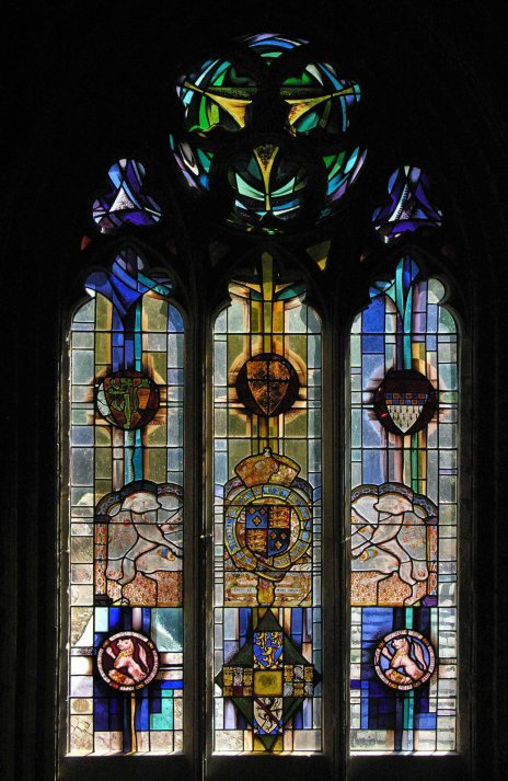 Broughton Castle Chapel reusing ancient glass
