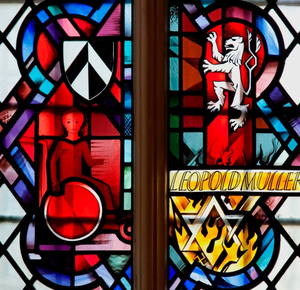 Leopold Muller donor window Henry VII chapel